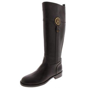 NWB Tommy Hilfiger  Brown Knee High Riding Boots